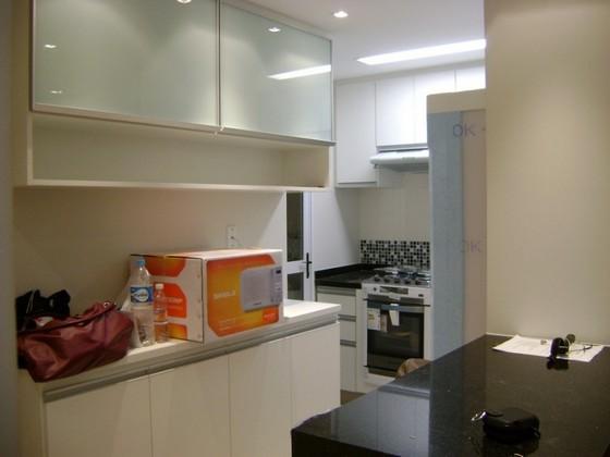 Cozinha Pequena Planejada Apartamento Tremembé - Cozinhas Pequenas Planejadas